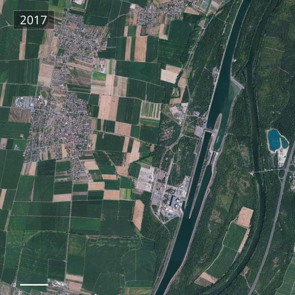 Territoire de Fessenheim - Vue aérienne 2017